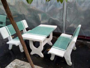 Bàn ghế đá công viên GDM-117