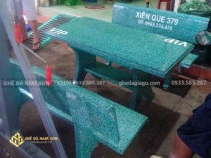 nam son bán bàn ghế đá mài màu xanh