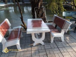 chuyên cung cấp bàn ghế đá trắng đỏ