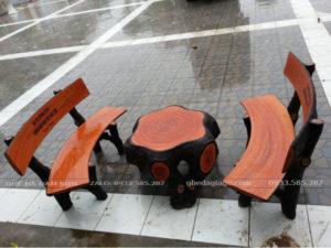 bàn ghế đá giả gỗ giá rẻ