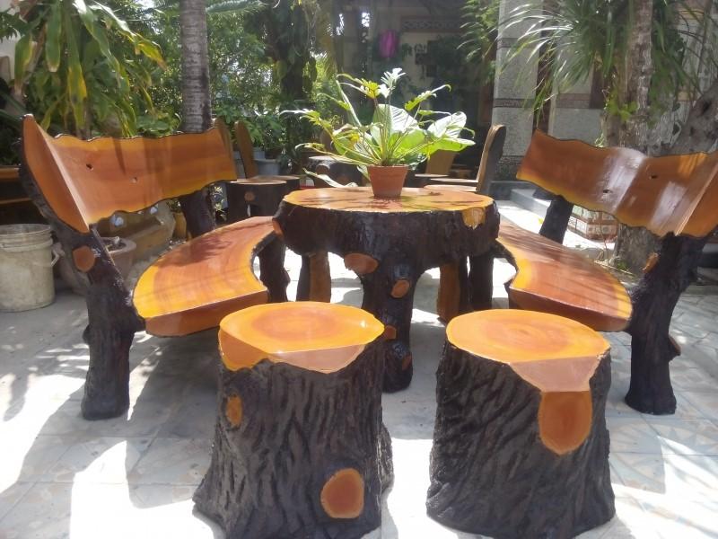 4 mẫu bộ bàn ghế đá tròn đẹp 1