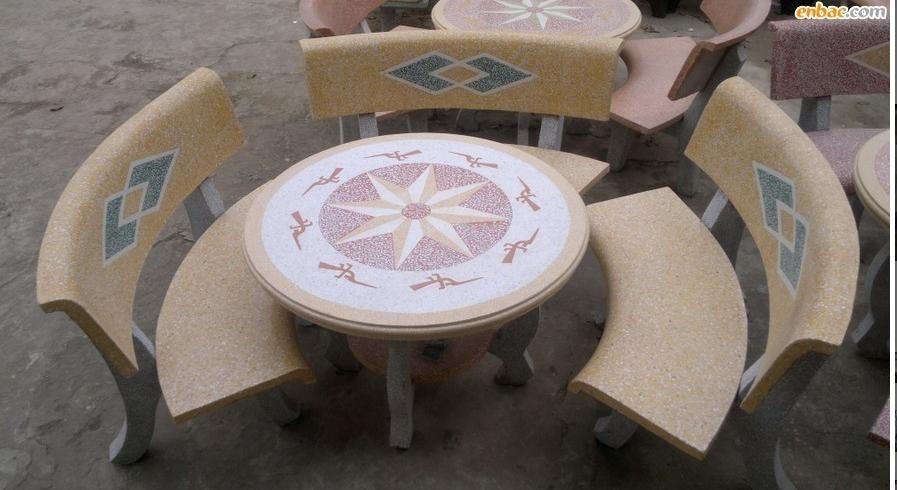 4 mẫu bộ bàn ghế đá tròn đẹp 3