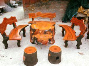 Bàn ghế đá sản phẩm tự nhiên 2