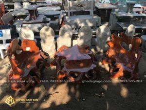 bàn ghế đá granito 2