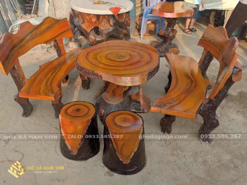 bàn ghế đá mài 7