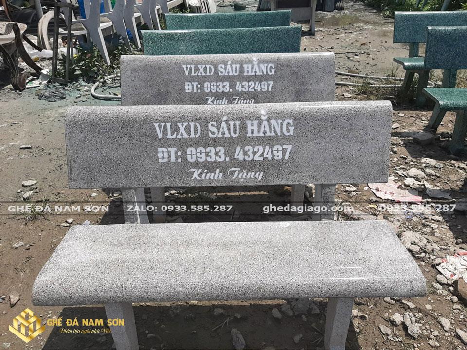 cung cấp các loại ghế đá công viên màu xám
