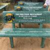 bán các loại ghế đá công viên màu xanh