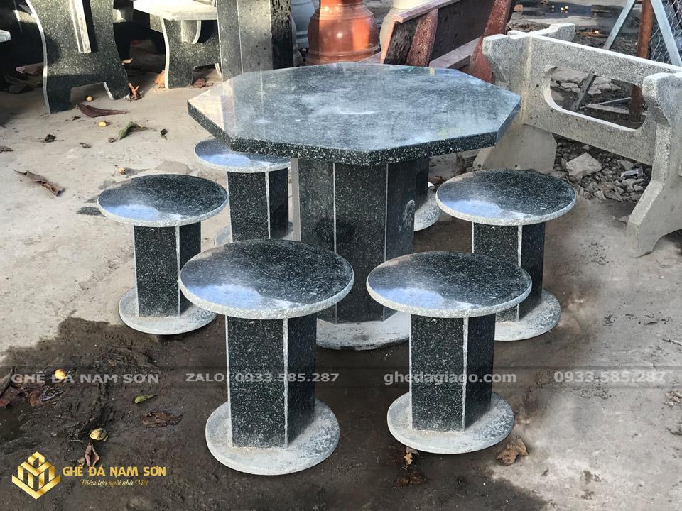 Chuyên cung cấp Bộ ghế đá hoa cương lục giác