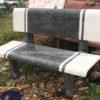 hân phối ghế đá màu trắng đen