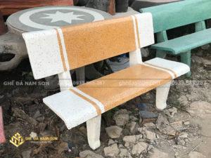 công ty làm ghế đá trắng vàng