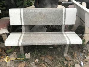 Chuyên sản xuất và lắp đặt ghế đá trắng xám