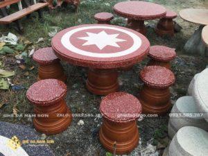 Bộ bàn ghế đá nhỏ gọn đẹp cho sân vườn