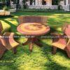 Nam sơn bán các loại Bàn ghế đá tròn trắng đỏ